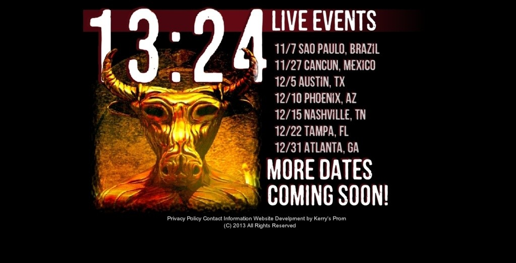 Click for information on 13:24 Live Tour Events